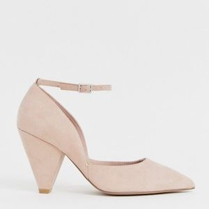 ASOS Wide Fit Speaker blush pointed heels